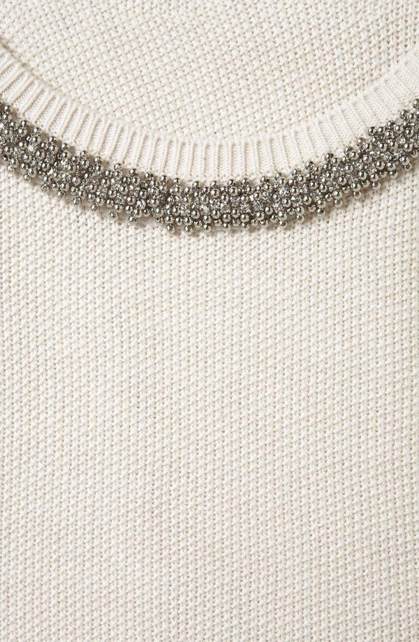 Alternate Image 3  - Topshop Embellished Collar Sweater