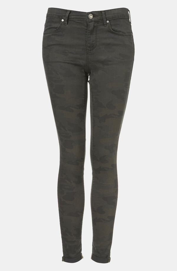 Alternate Image 1 Selected - Topshop Moto 'Leigh' Camo Skinny Jeans