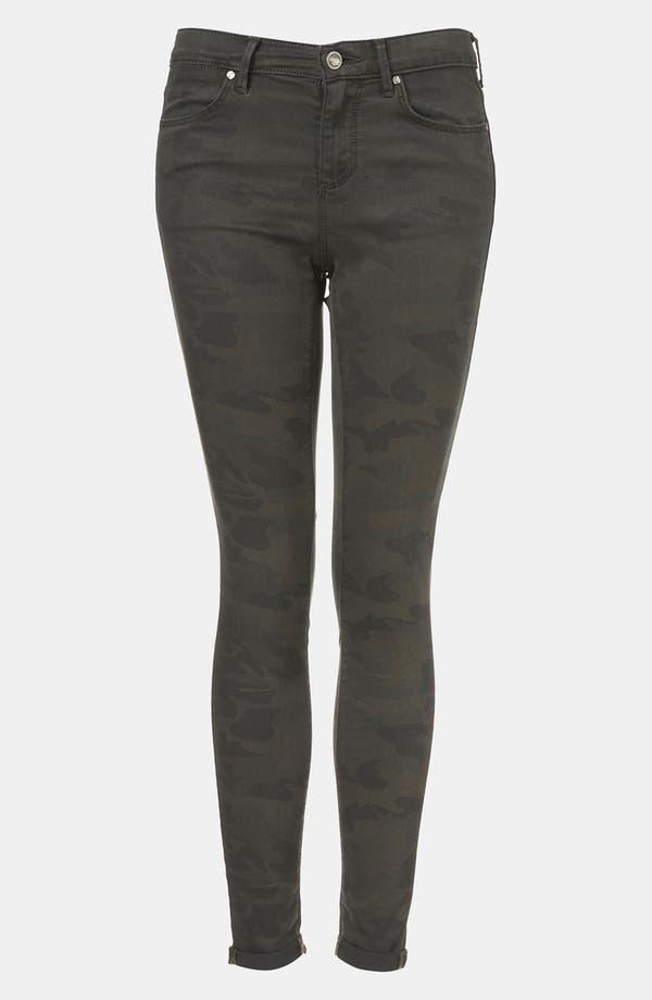 Main Image - Topshop Moto 'Leigh' Camo Skinny Jeans