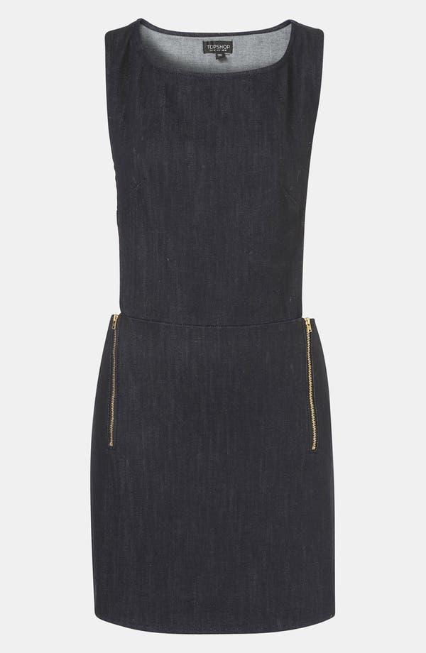 Alternate Image 1 Selected - Topshop Denim Pinafore Dress