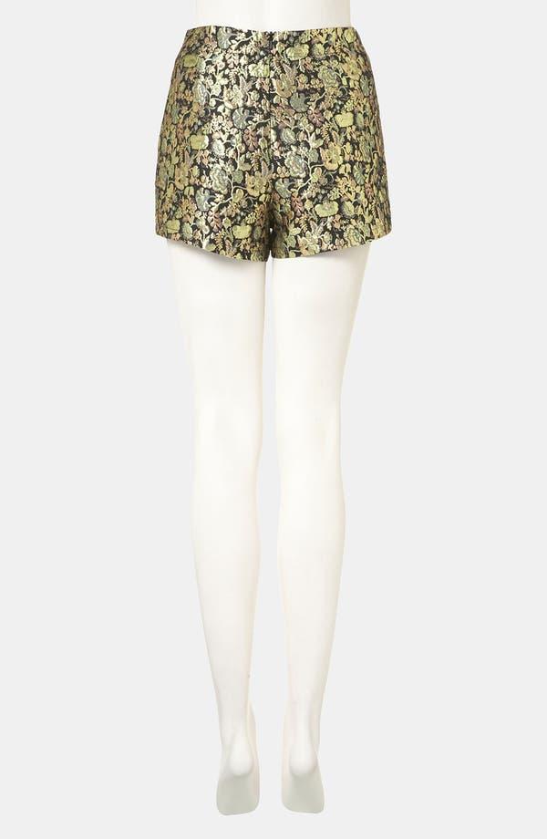Alternate Image 2  - Topshop Metallic Jacquard Shorts