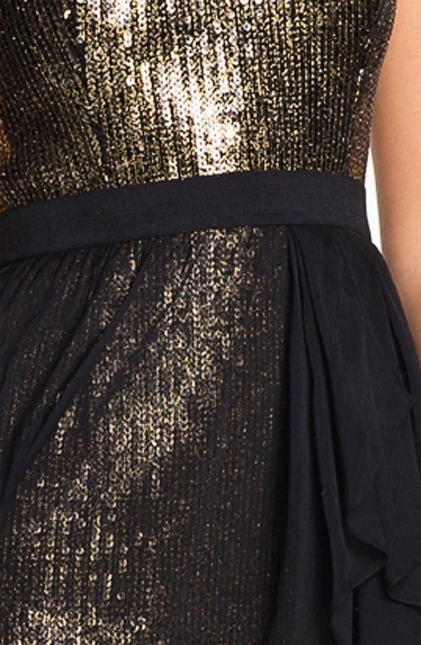 Alternate Image 3  - Aidan Mattox High/Low Chiffon Overlay Sequin Dress