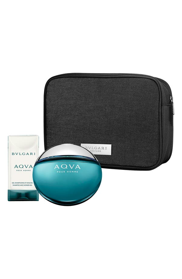 Alternate Image 1 Selected - BVLGARI 'AQVA pour Homme' Pouch Set ($112 Value)