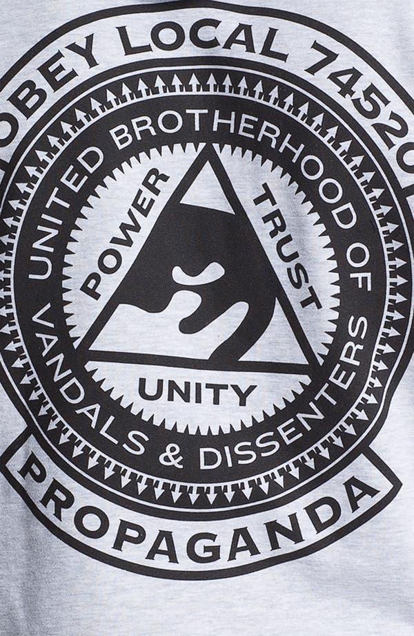 Alternate Image 3  - Obey 'Brotherhood' Graphic Zip Hoodie