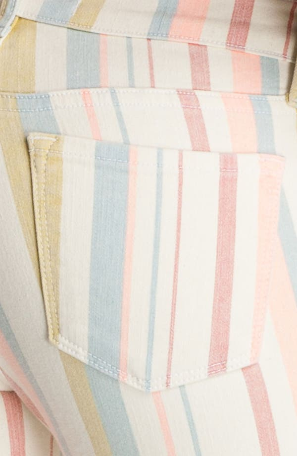 Alternate Image 3  - J Brand Pastel Stripe Stretch Denim Skinny Jeans (Candy Stripe)