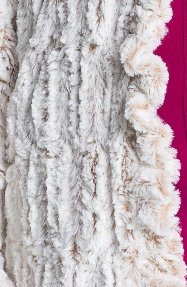 Alternate Image 3  - Damselle Ruffled Faux Fur Jacket (Plus)