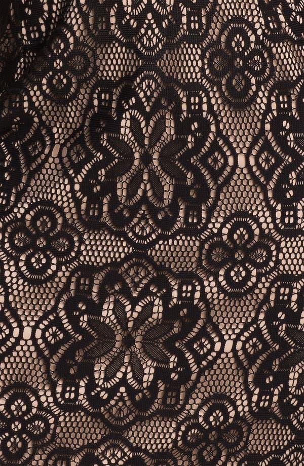 Alternate Image 3  - Donna Ricco Ruffle Neck Mixed Media Sheath Dress