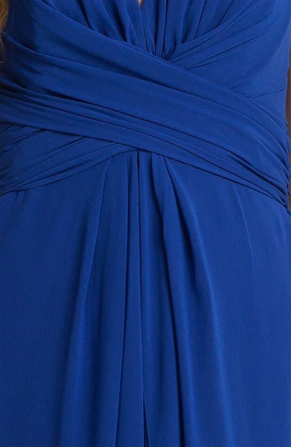 Alternate Image 3  - Donna Ricco Wrap Bodice Chiffon Halter Gown