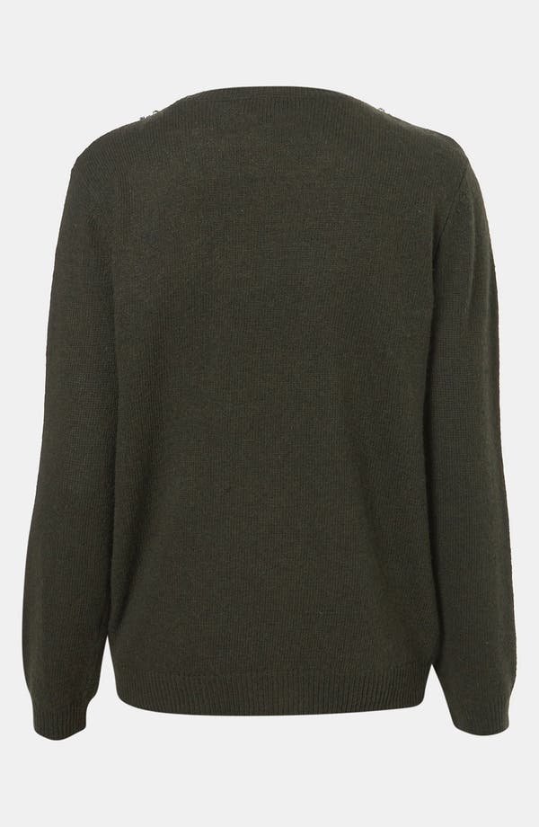 Alternate Image 2  - Topshop Rhinestone Trim Sweater