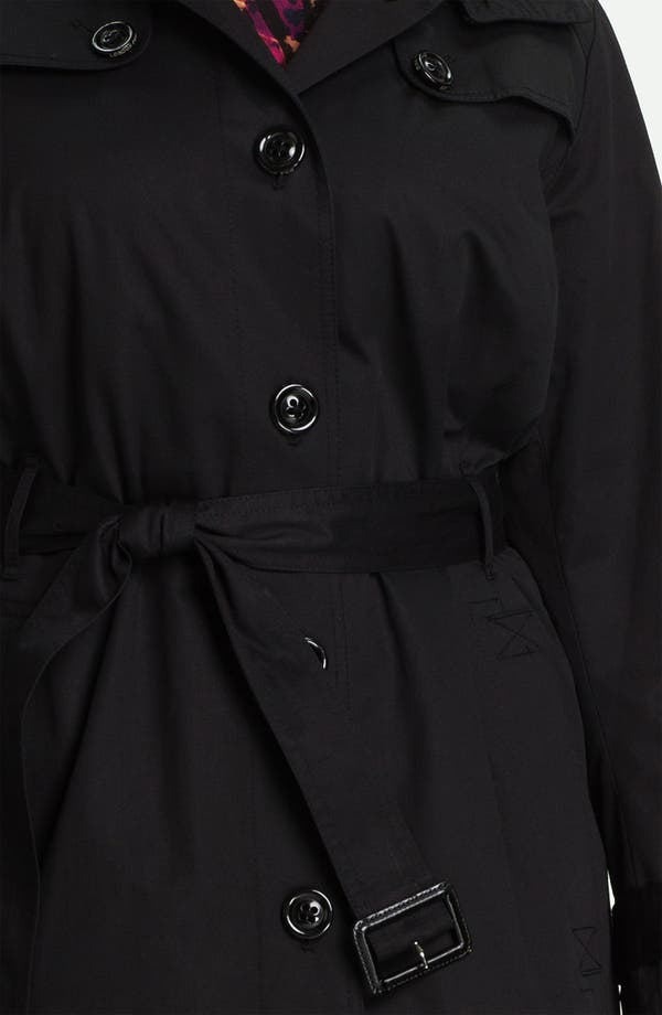 Alternate Image 3  - London Fog Long Trench Raincoat with Liner (Plus Size) (Online Only)