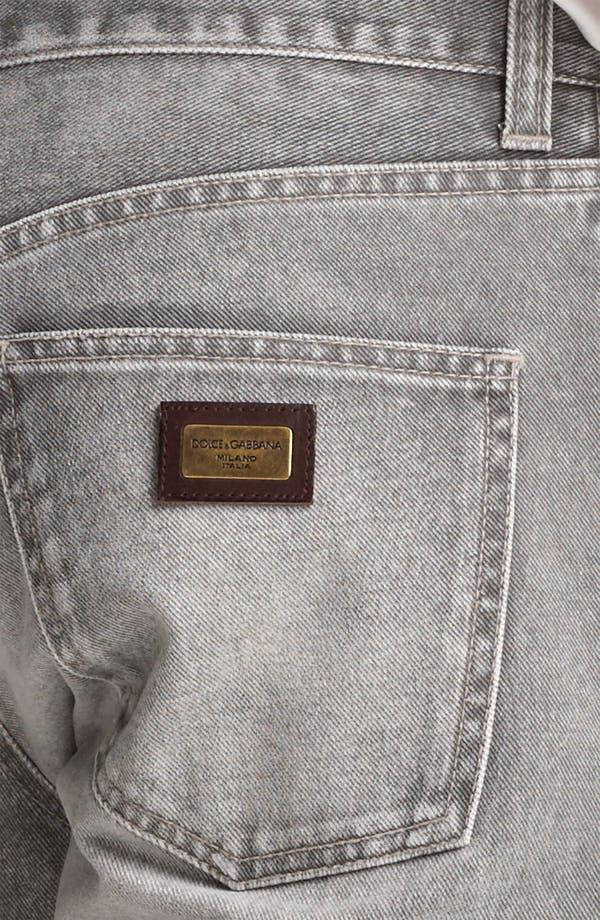 Alternate Image 4  - Dolce&Gabbana Slim Straight Leg Jeans (Medium Grey)