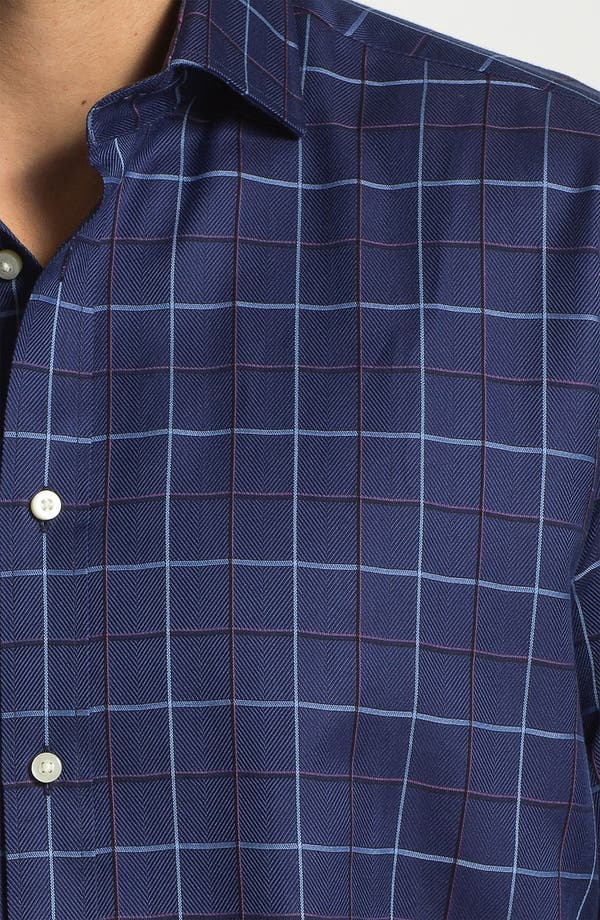 Alternate Image 3  - Thomas Dean Regular Fit Sport Shirt