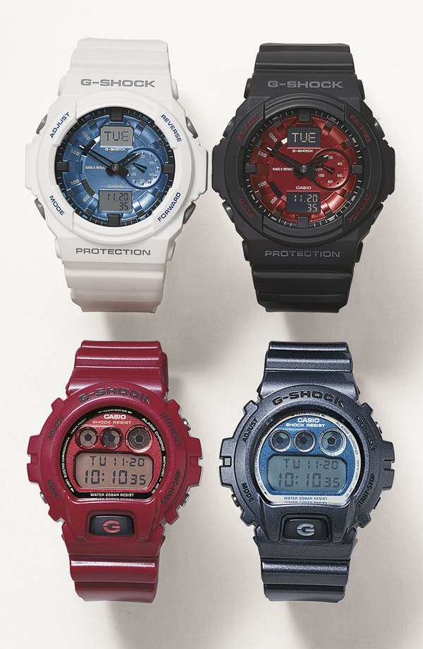Alternate Image 3  - G-Shock Metallic Dial Watch, 53mm x 50mm