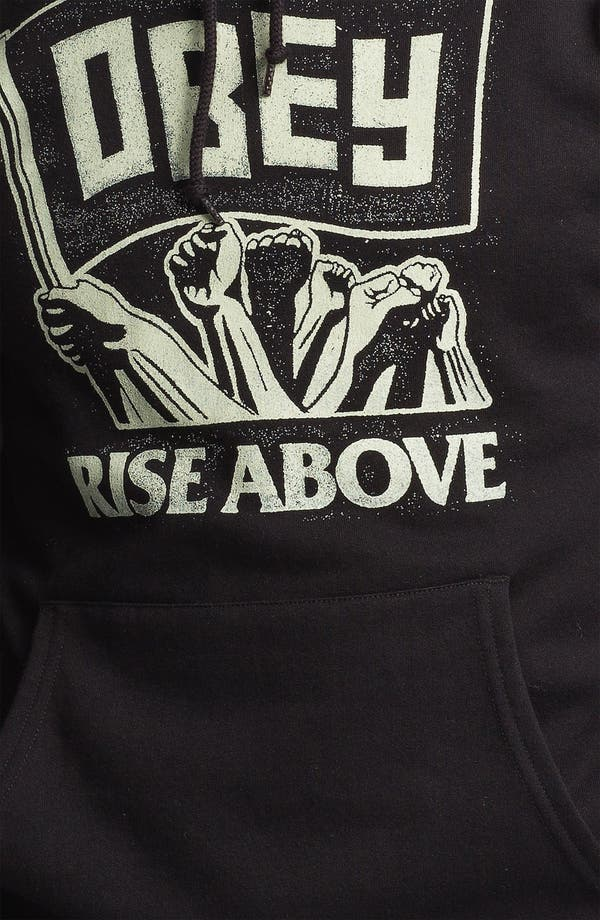 Alternate Image 3  - Obey 'Rise Above - Flag' Graphic Hoodie