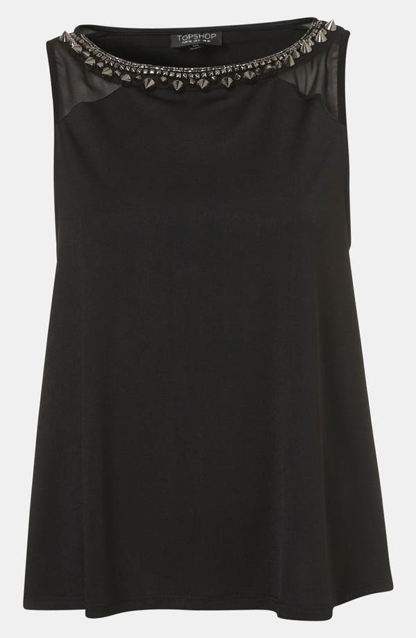 Main Image - Topshop Stud Necklace Swing Top