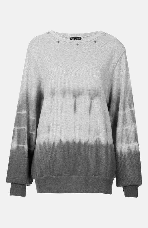 Alternate Image 1 Selected - Topshop Studded Tie Dye Sweatshirt