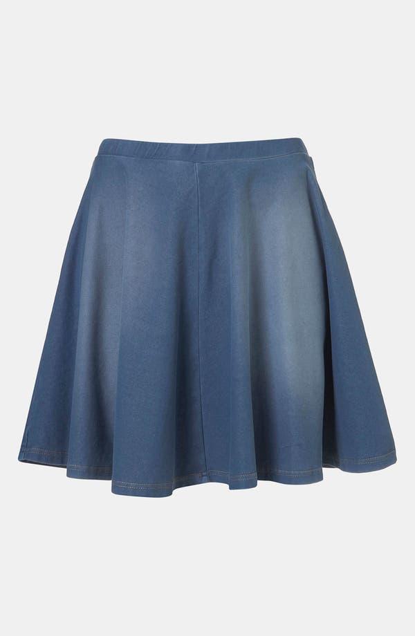 Alternate Image 1 Selected - Topshop Denim Skater Skirt
