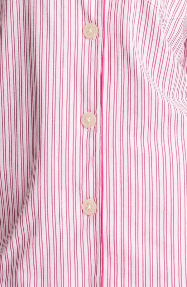 Alternate Image 3  - Lauren Ralph Lauren Sleepwear Cropped Stripe Pajamas