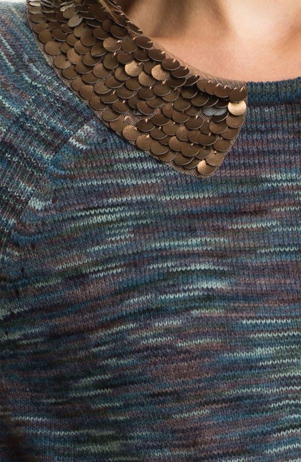 Alternate Image 3  - Hinge® Embellished Collar Space Dye Sweater
