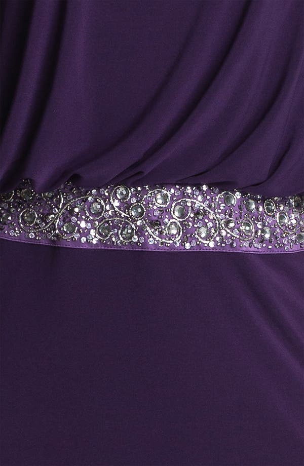 Alternate Image 3  - JS Boutique Back Keyhole Embellished Blouson Jersey Gown