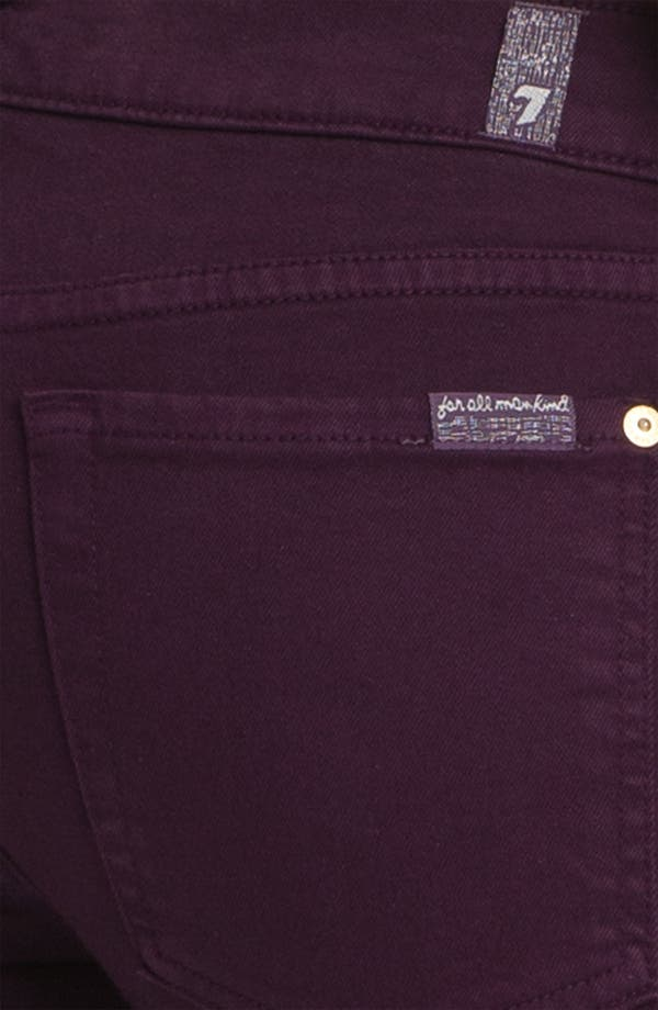 Alternate Image 3  - 7 For All Mankind® 'Slim Illusion' Overdyed Skinny Stretch Jeans (Bordeaux)