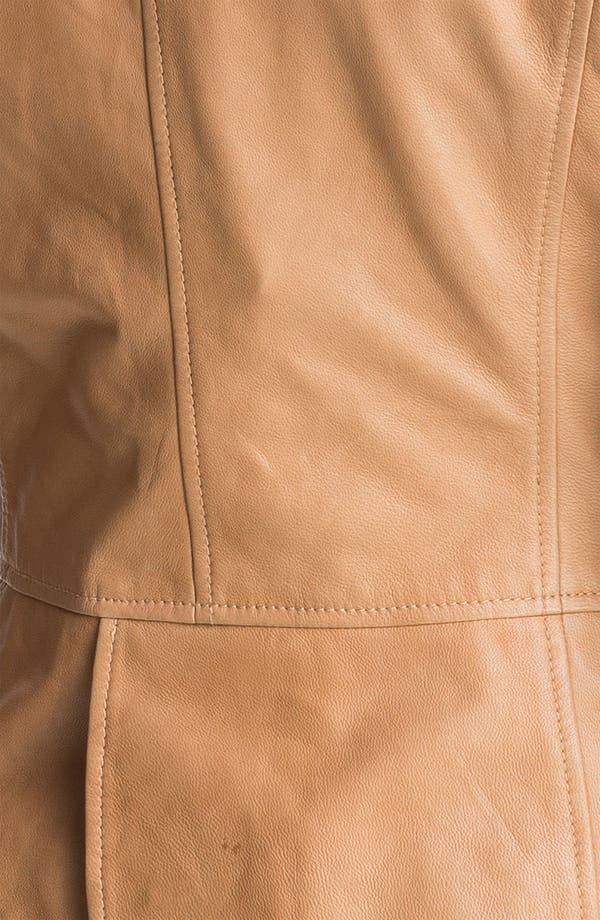 Alternate Image 3  - Halogen® Open Front Leather Jacket