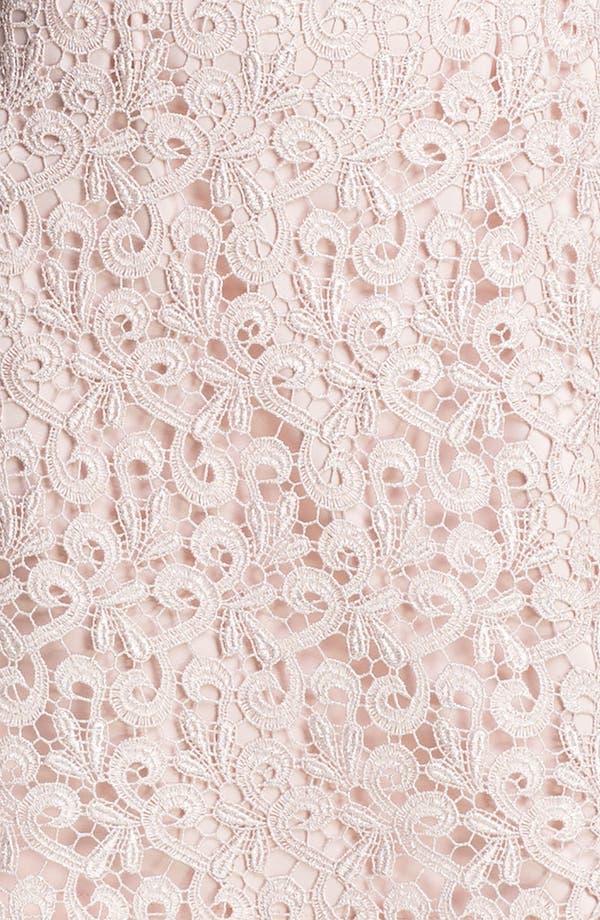 Alternate Image 3  - Suzi Chin for Maggy Boutique Scalloped Lace Sheath Dress