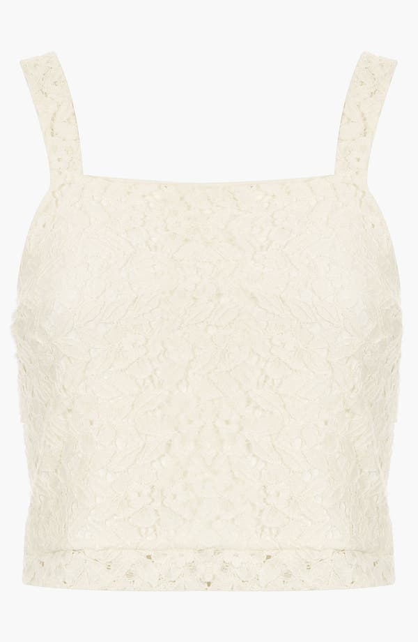 Alternate Image 1 Selected - Topshop Crop Lace Tank