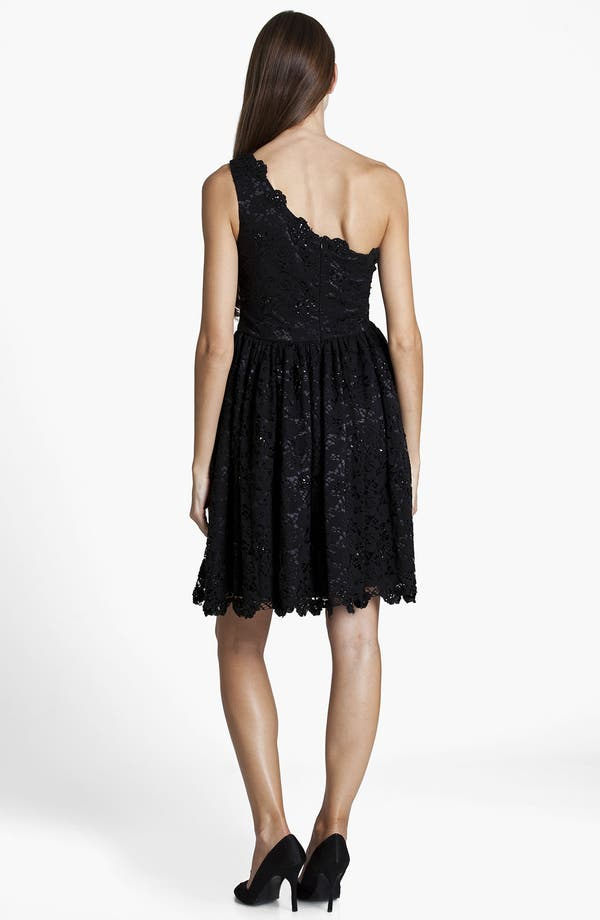 Alternate Image 2  - JS Boutique One Shoulder Embellished Lace Dress
