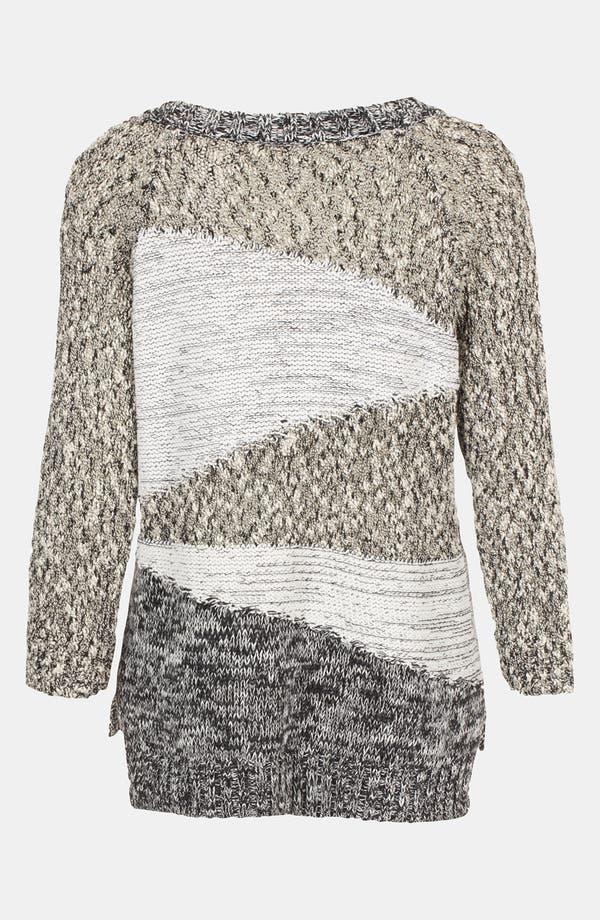 Alternate Image 2  - Topshop Mixed Yarn Insert Sweater