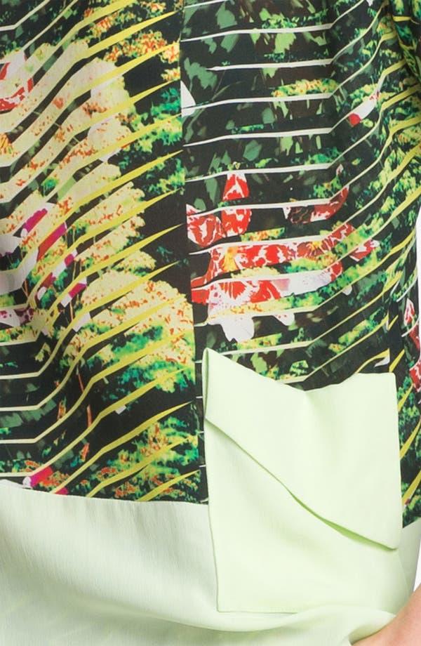 Alternate Image 5  - KENZO Orchid Print Crepe Top