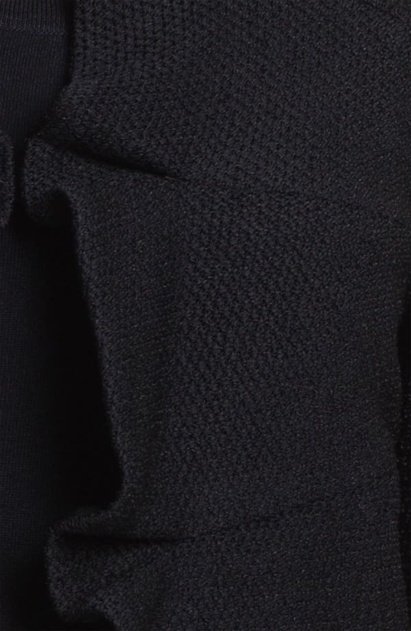 Alternate Image 3  - Ming Wang Three Quarter Sleeve Ruffled Jacket