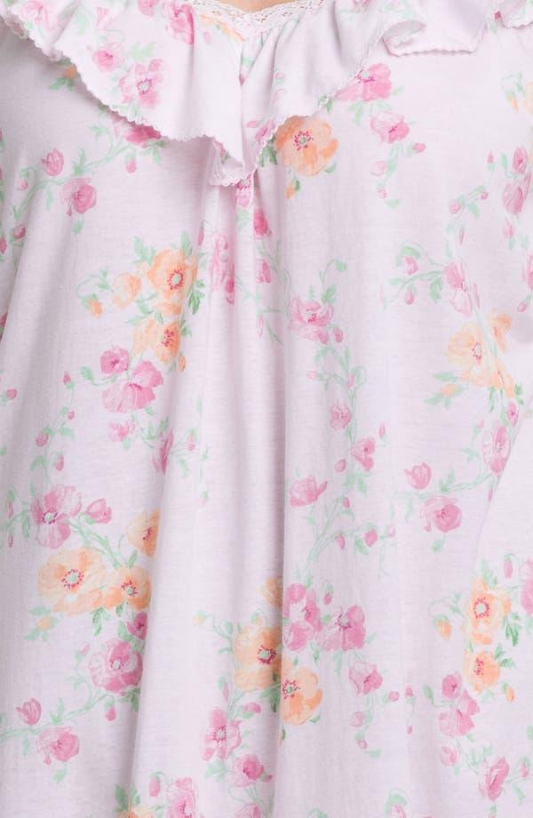 Alternate Image 3  - Lauren Ralph Lauren Sleepwear Short Ruffle Nightgown (Plus)