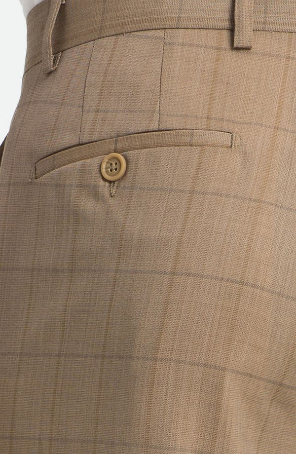 Alternate Image 3  - Linea Naturale 'Sandbox Plaid' Flat Front Wool Trousers