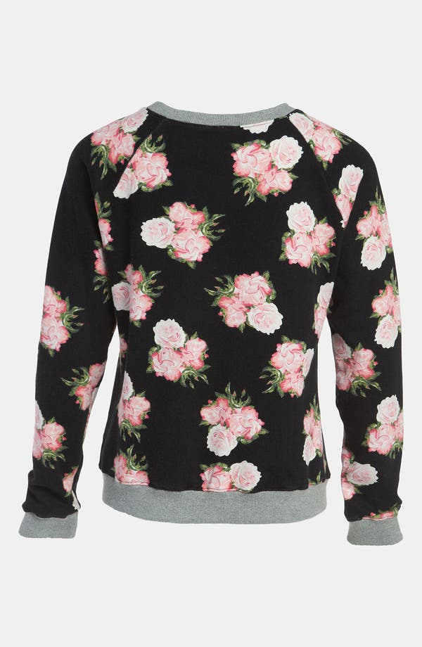 Alternate Image 2  - Mural Floral Sweatshirt