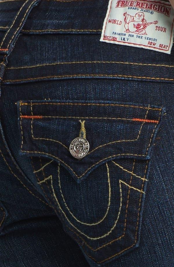 Alternate Image 3  - True Religion Brand Jeans 'Lily' Crop Skinny Jeans (Dark Pony Express)