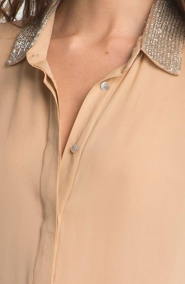 Alternate Image 3  - Haute Hippie Embellished Silk Shirtdress