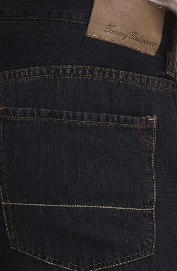 Alternate Image 4  - Tommy Bahama Denim 'Coastal Island Ease' Straight Leg Jeans (Black Overdye)