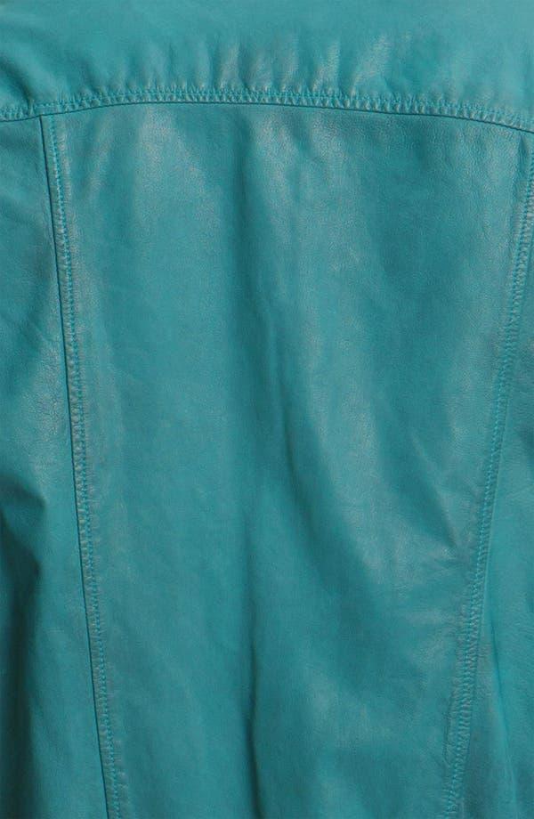 Alternate Image 3  - Scotch & Soda Leather Bomber Jacket