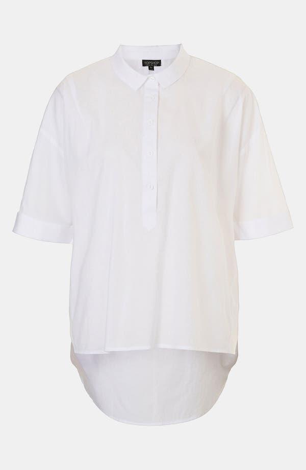 Main Image - Topshop Oversized High/Low Shirt
