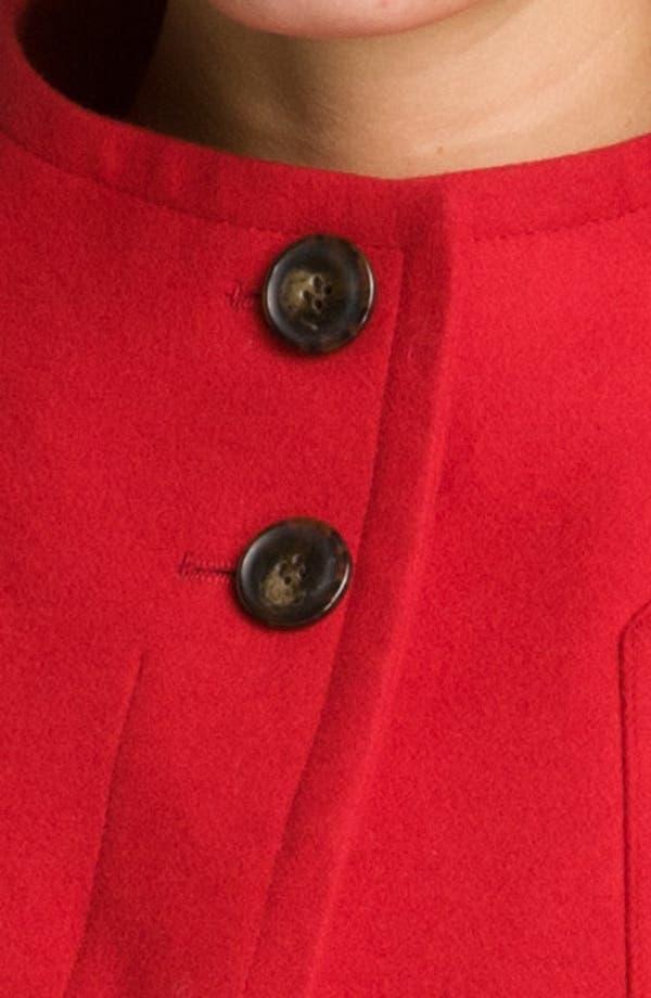 Alternate Image 3  - Ellen Tracy Stand Collar A-Line Coat (Petite) (Nordstrom Exclusive)
