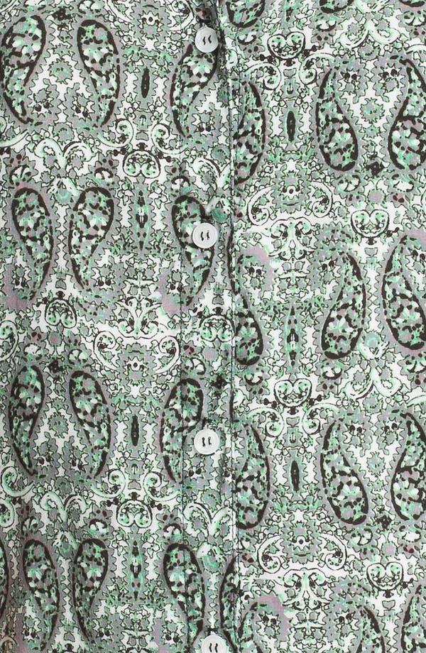 Alternate Image 3  - Ella Moss Tie Back Twin Print Shirt