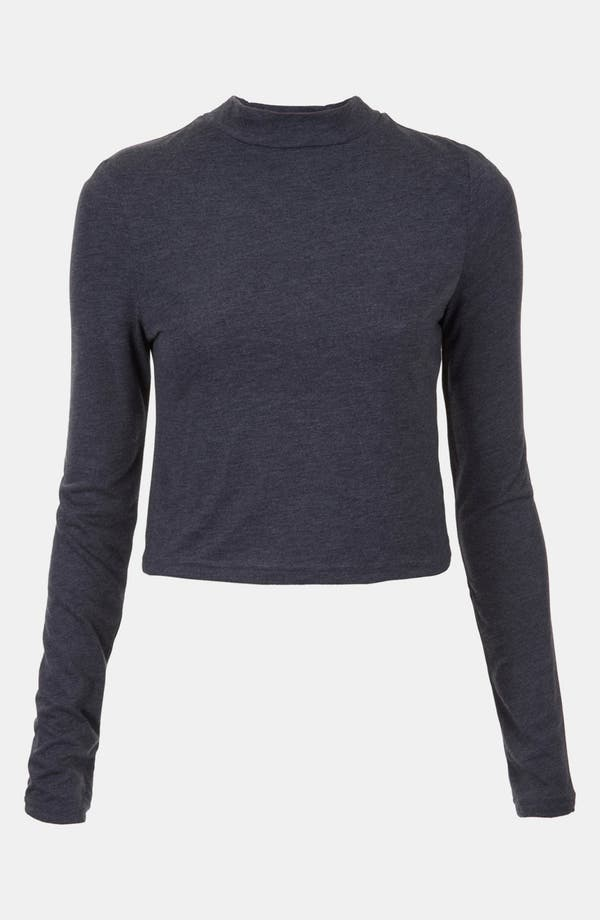 Main Image - Topshop Mock Neck Crop Top