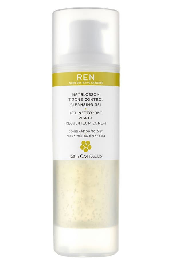 Alternate Image 1 Selected - REN Mayblossom T-Zone Control Cleansing Gel