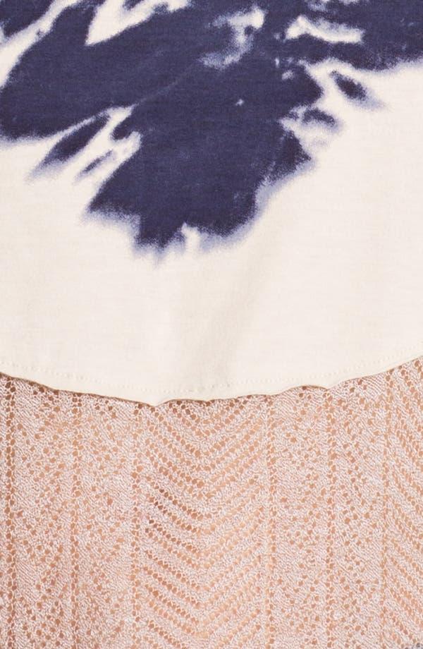 Alternate Image 3  - Free People 'Bonnaroo' Tie Dye & Crochet Tank