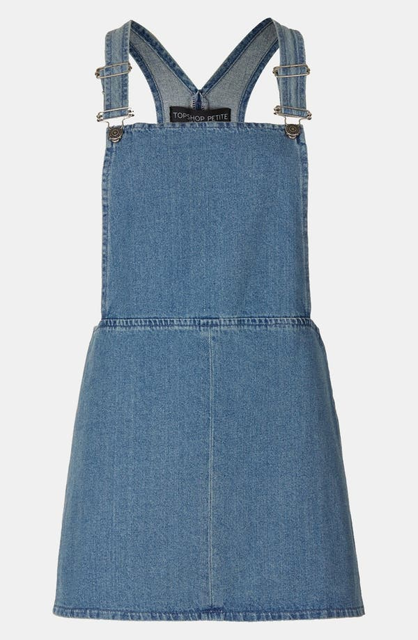 Main Image - Topshop Denim Jumper (Petite)