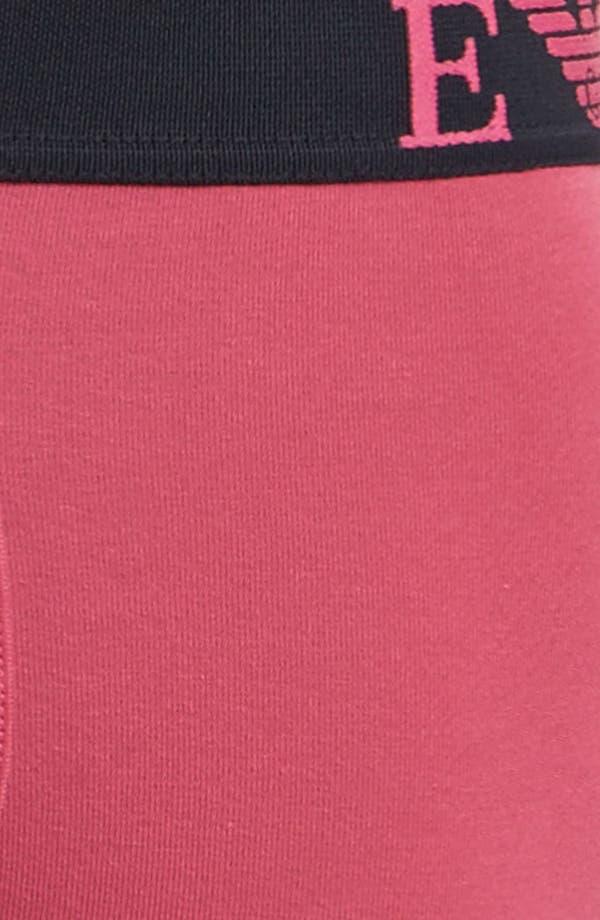 Alternate Image 3  - Emporio Armani Logo Stretch Trunks