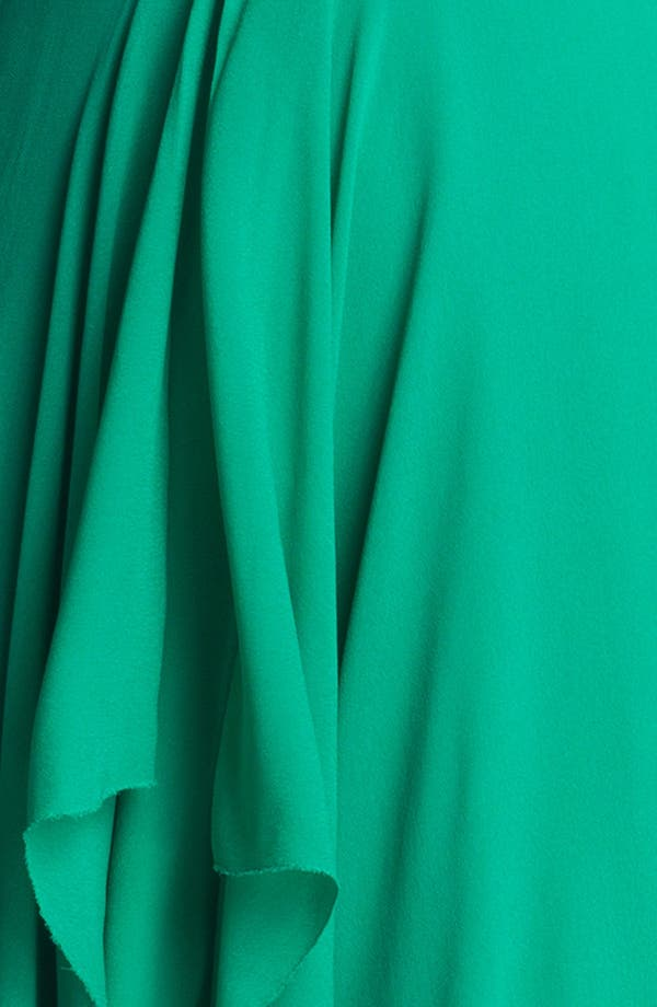 Alternate Image 3  - Nicole Miller Draped High/Low Chiffon Dress