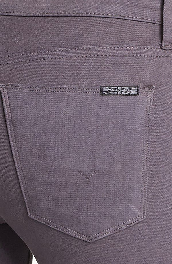 Alternate Image 3  - Hudson Jeans 'Colette' Mid Rise Skinny Jeans (Steel Grey)