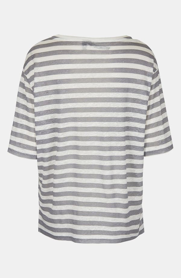Alternate Image 2  - Topshop Boutique Stripe Linen Tee